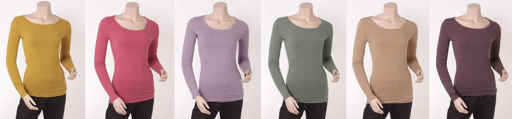 Verschiedene Herbstfarben 2013 für das T-Shirt 1-1309-9 von Noa Noa