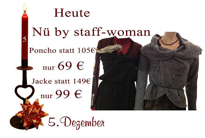 Poncho und Jacke von Nü by Staff-Woman