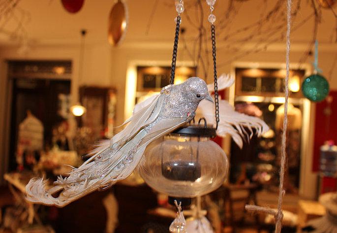 Silberner Vogel zum Klemmen