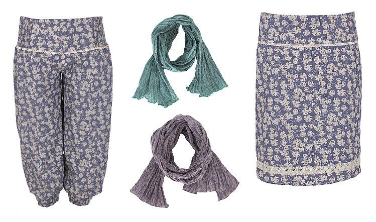 Hosen, 'Tücher und Röcke
