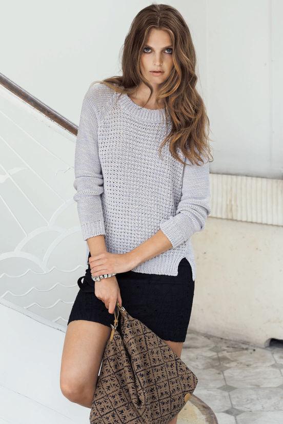 Februar - Outfit 1 - Bluse, Rock, Tasche (Quelle: noanoa.com)