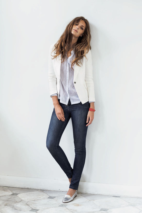 Februar - Outfit 5 - Jacket, Shirt, Hose, Armband, Schuh (Quelle: noanoa.com)