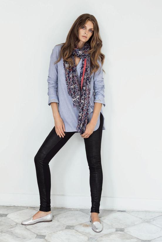 Februar - Outfit 10 - Tunika, Tuch, Hose, Schuh (Quelle: noanoa.com)