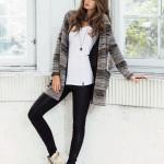 Januar - Outfit 4 - Top, Cardigan, Hose, Kette und Schuhe (Quelle: noanoa.com)