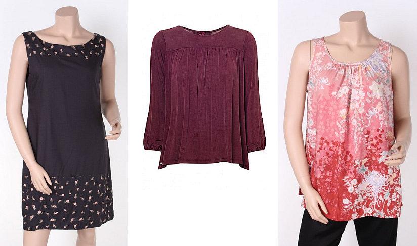 By Ti-Mo: Blumenkleid, Cupro-Bluse und Kimono-Top