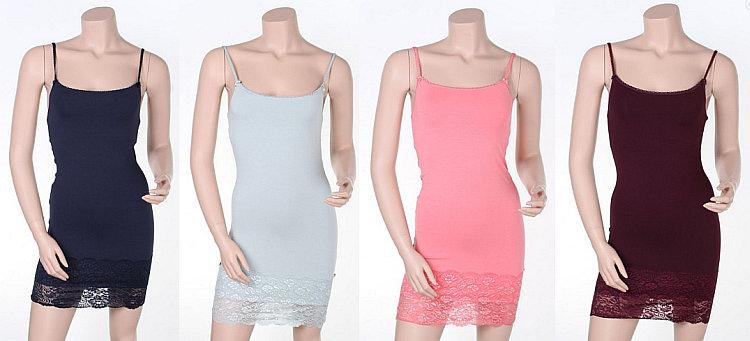 """Trägerloses Unterkleid """"Slip Basic Dress Lace"""" von By Ti-Mo"""