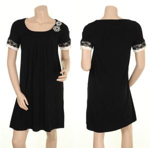 """Dezentes schwarzes Kleid """"Flirting Fanny"""" von Du Milde"""