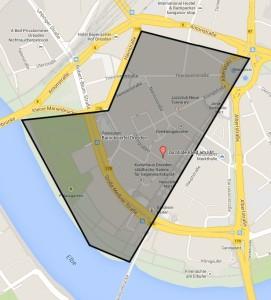 Karte vom Barockviertel Dresden