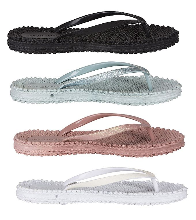 Flip-Flops in Black, Sky-Blue, Misty-Rose und White