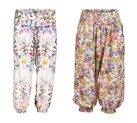 Knielange Sommerhosen mit Blumenmuster - 6-3132 und 6-3137