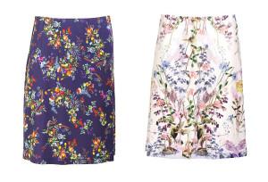 Röcke mit floralem Druck - 5-3130 und 5-3133