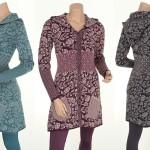 Knitwear Glory (24-059) von Sorgenfri Sylt in den Farben Petrol, Aubergine und Charcoal
