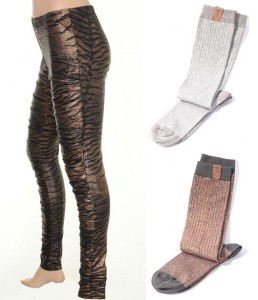 Leggings 4161-19 und Glitzersocken 4196-90 von Nü by Staff-Woman