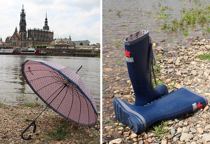 Regenschirm (1-4435-1) und Gummistiefel (1-2183-3) von Noa Noa
