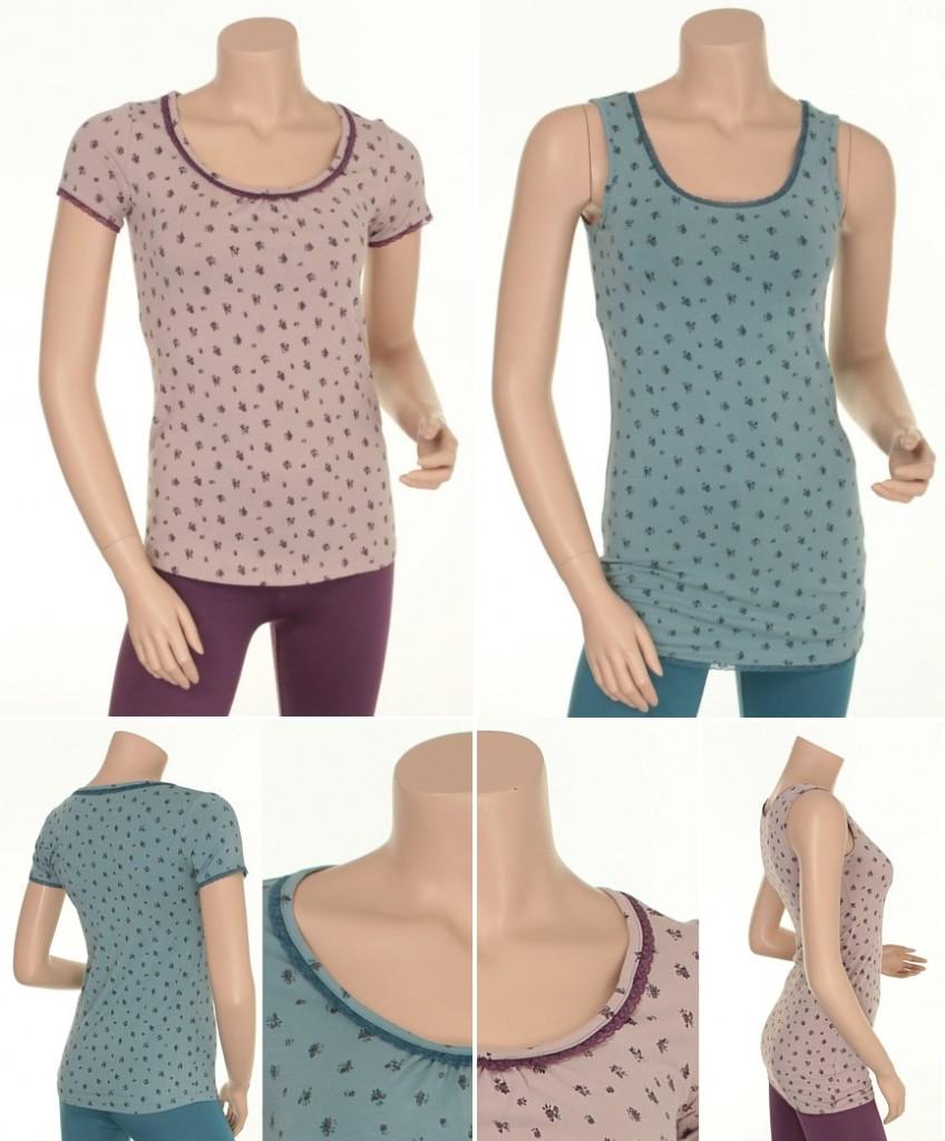 Shirt Agneta (24-038) und Shirt Stine (24-037) von Sorgenfri Sylt in den Farben Pure Ice und Antique Rose