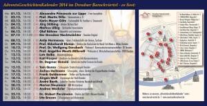 Termine, Orte und Vorleser zum Advents-Geschichten-Kalender