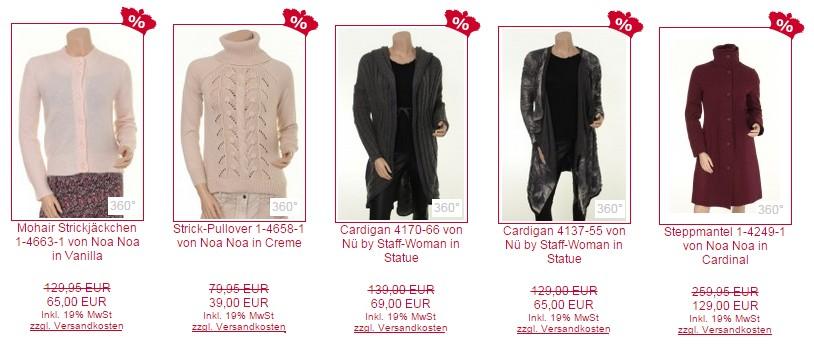 Sale: Tolle Strickjacken, Pullover, Cardigans und Mantel aus den Herbst- und Winterkollektionen