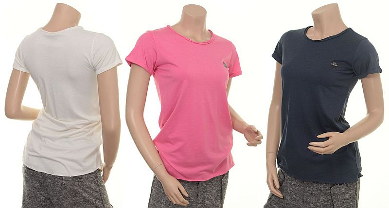 Bamboo T-Shirt 4351-51 in creme, pink honey und blue night von Nü by Staff-Woman