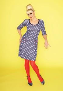 Kleid 00642 Suzy LoveU mit blau weissen Punkten (Quelle: mwmwear.com)