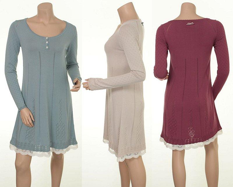 Kleid Milly 15-050 in den Farben Sky, Sand und Wild Rose
