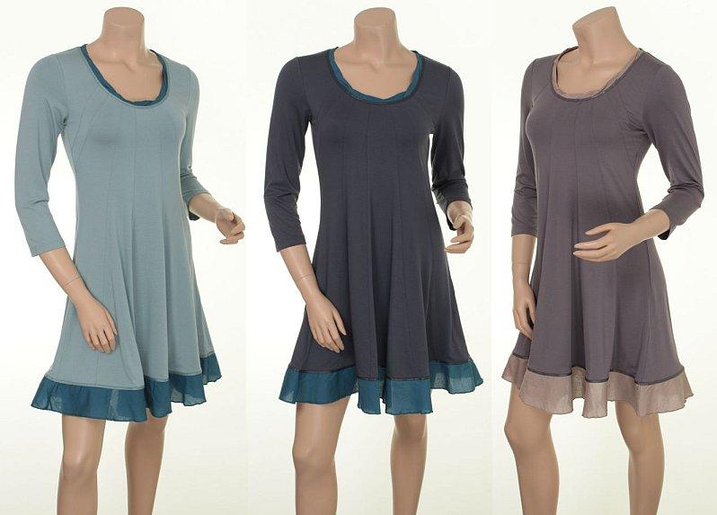 Kleid Randi 15-030 in den Farben Sky, Night und Pearl Grey