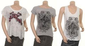 T-Shirts 4343-52 und 4313-53 sowie Top 4313-57 von Nü by Staff-Woman