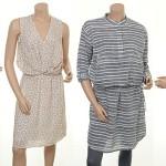 Seidenkleid Einess und Baumwollkleid Egile von Part-Two