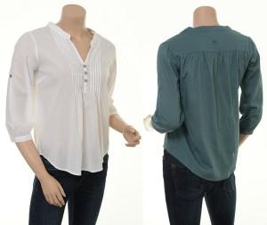 Einfarbige Bluse H-210  &Hübsch