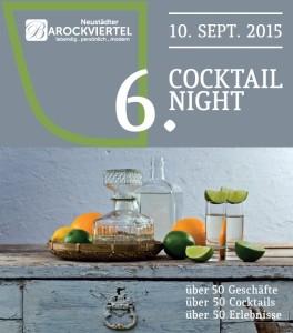 Flyer zur 6. Cocktailnight im Barockviertel Dresden