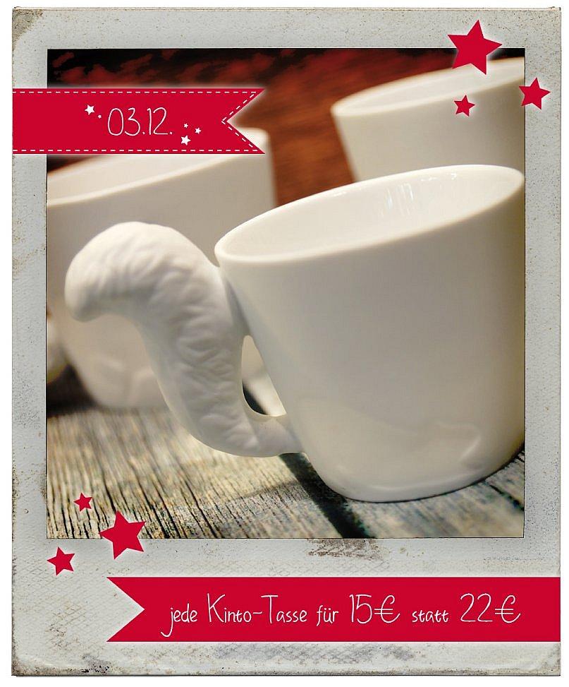 03.12.2015 Julekalender: jede Kinto Tasse für 15 statt 22 Euro