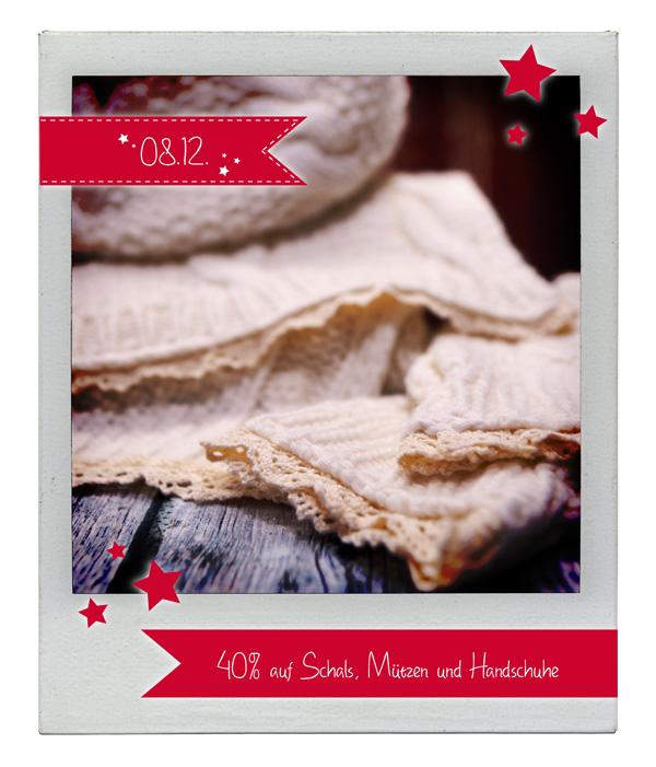 08.12.2015 Julekalender: 40% Rabatt auf Schals, Mützen und Handschuhe