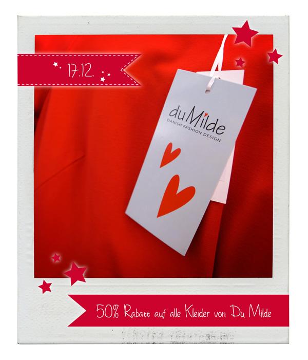 17.12.2015 Julekalender: 50% Rabatt auf Kleider von Du-Milde