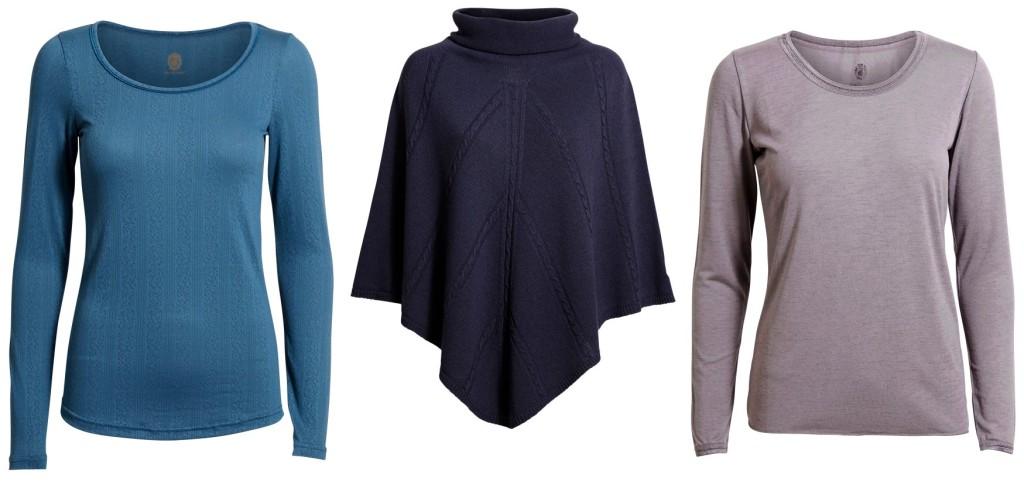 Langarm-Shirt Jakob, Poncho Jeanne und XO T-Shirt 10-112