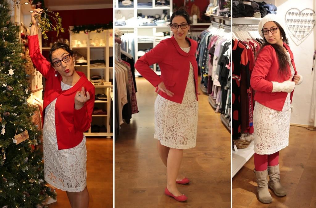 """Dezember-Outfit: Kleid """"Patrice Noos"""" von InWear und Blazer """"Carolines Crincle"""" Du Milde"""