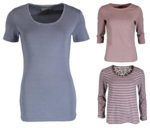 Gestreifte T-Shirts Sara, Mabel und Hanna (Quelle: sorgenfri-sylt.com)