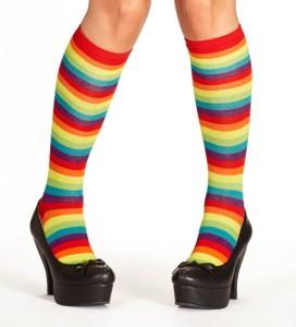Strumpf im Regenbogenmuster: 4558 Rainbow