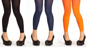 Einfarbige Leggings von Margot: OC Noir, OC Indigo und OC Orange