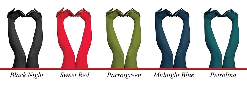Strumpfhosen von Du Milde in knalligen Farben (Quelle: dumilde.com)