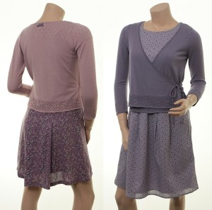 Cardigan Leni im Wickel-Look in Powder und Blueberry