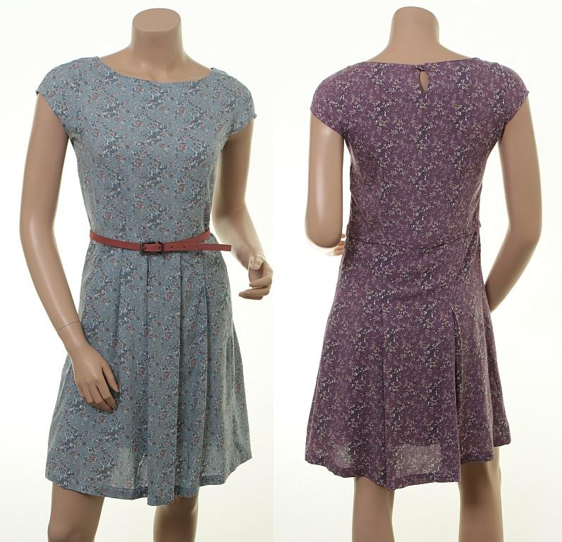 Feminines Kleid Violeta in Sky und Amethyst