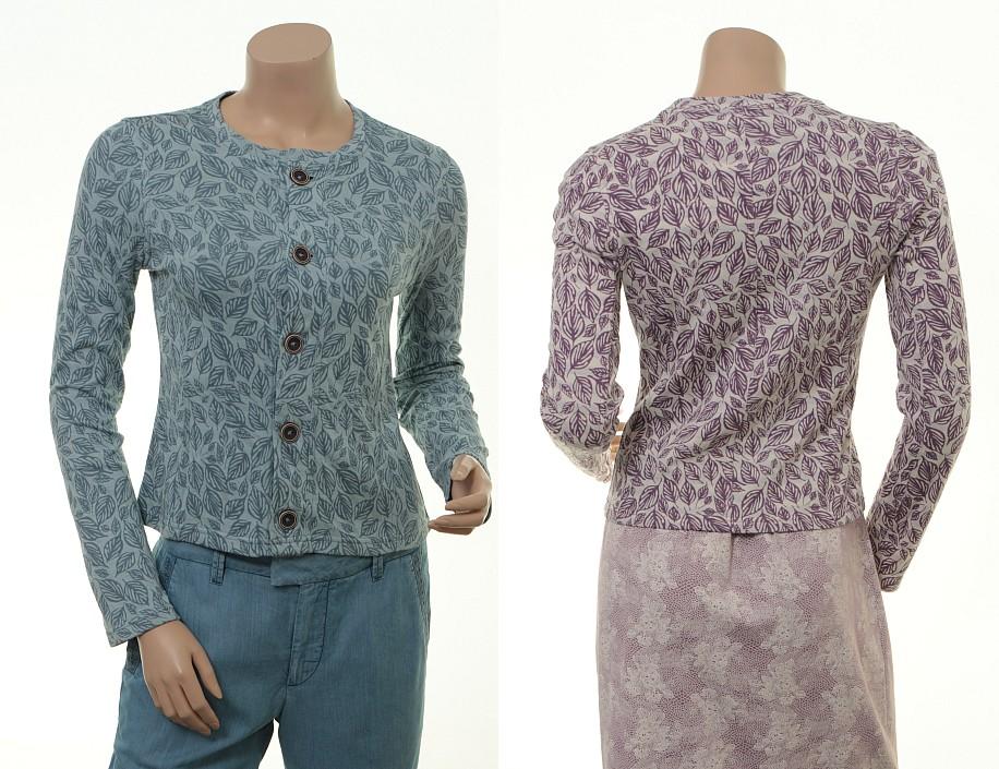 Reverse-Look: Wende-Shirt Caroline in Stormy und Amethyst