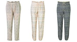 """Leichte Hosen in verschiedenen Muster- und Farbvarianten von Noa Noa aus der Kollektion """"High Summer 2016"""""""