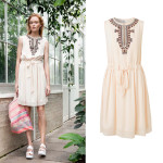 "Kleid (1-6337-100459-1) in Sanddollar von Noa Noa aus der Kollektion ""High Summer 2016""."