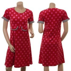Rot gepunktetes Sommerkleid von Du Milde: Sprudlende Solveig