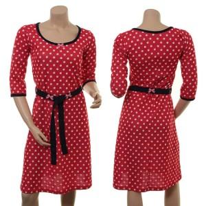 Das rot-weiß gepunktete Kleid: Holly Honda von Margot