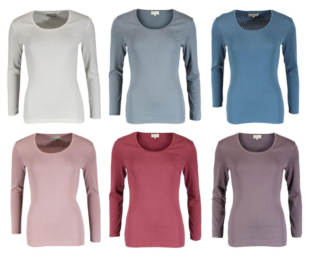 Romantisches Basicshirt Malin in vielen Farben