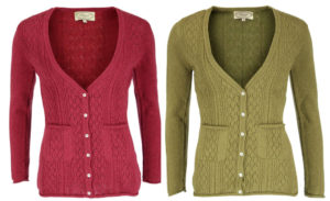 Strickjacke Fylla in wild ginger und antique gold