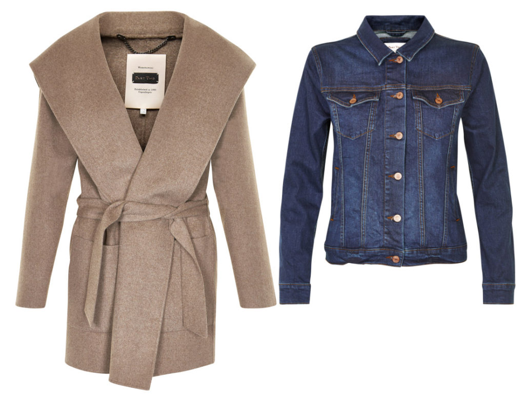 Mantel Earlena und Jeansjacke Arelis (Quelle: parttwo.com)