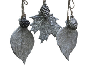 Vintage Blätter mit Dekor und Glitter