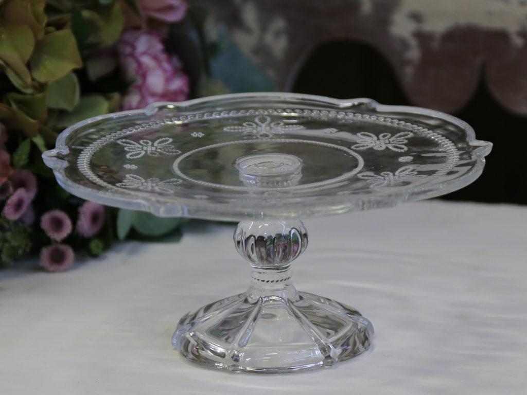 Runde Tortenplatte mit Perlenkante